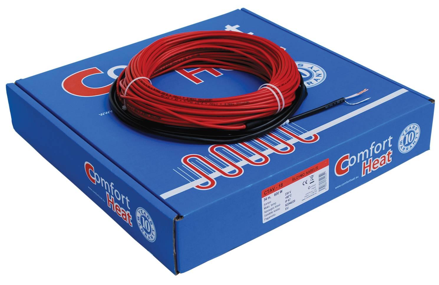 Šildymo kabelis CTAV-18, 8 m, 160 W