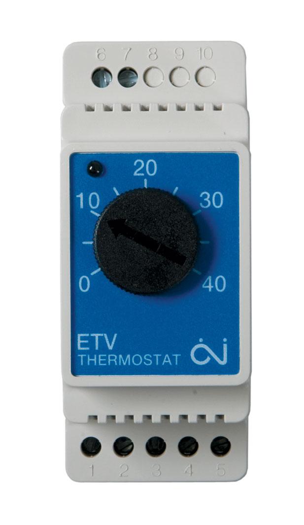 Termostatas ETV-1991 su jutikliu, 16A, DIN, 0…+40 °C