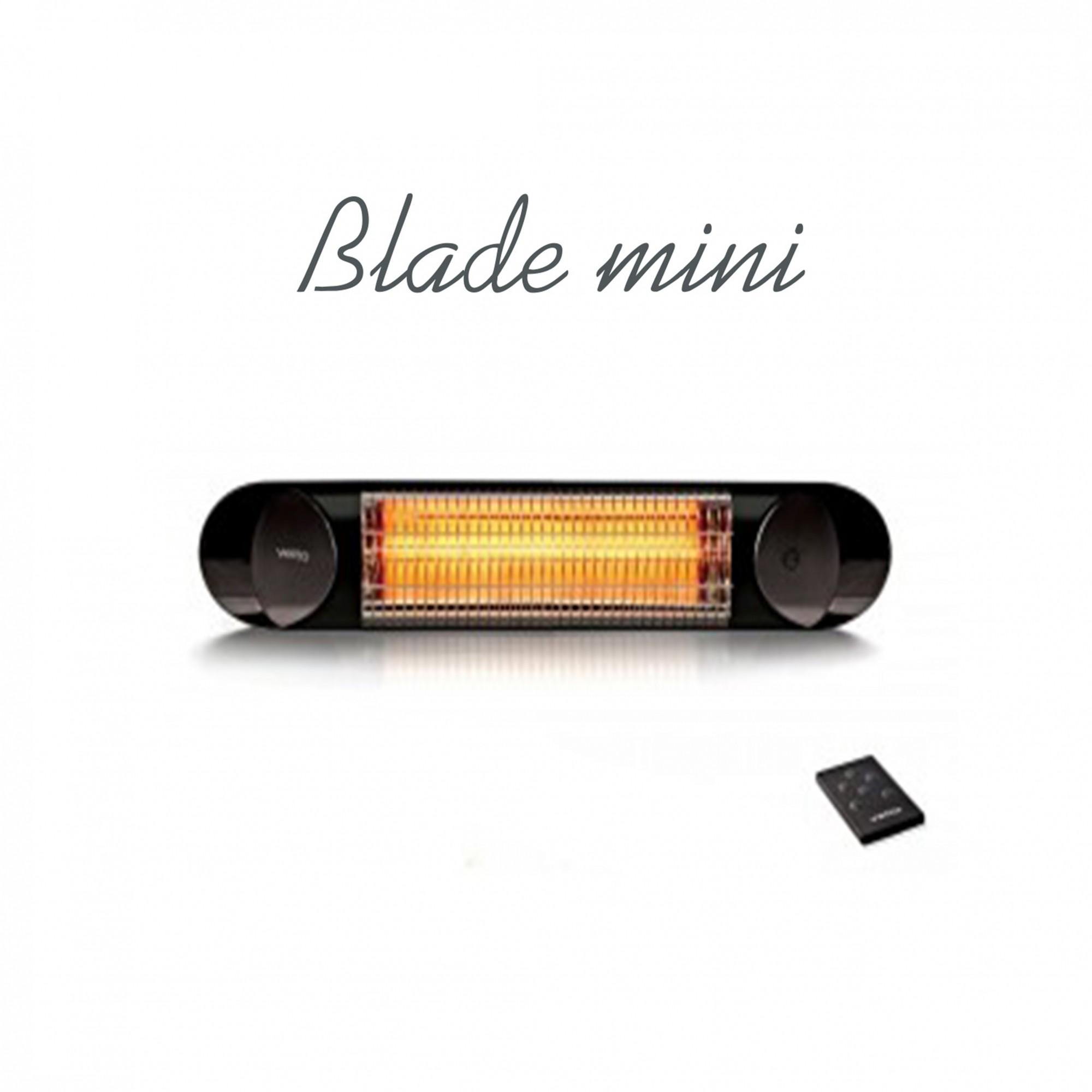 Anglies pluošto infraraudonųjų spindulių šildytuvas Veito Blade Mini IR (juodas)